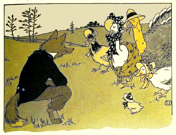 "Illustration for the story ""Chicken Little"", 1916"