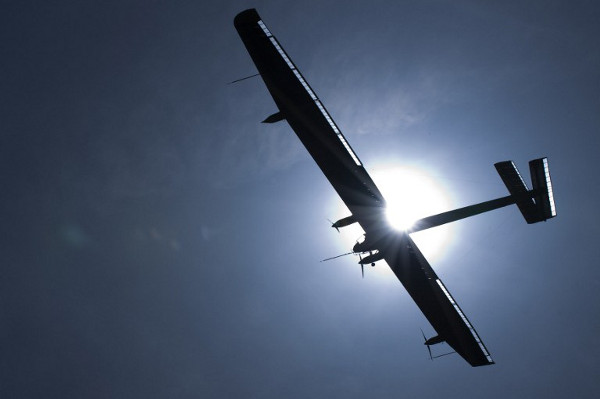 The Solar Impulse aircraft shortly after taking off from an airport in Payerne, Switzerland, on April 7 2010. (AFP)