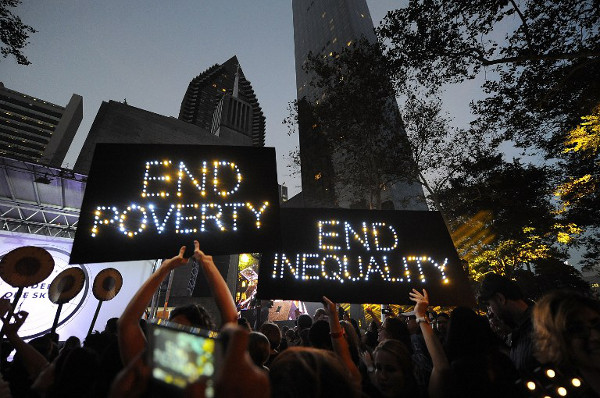 The New York Action 2015 global mobilisation event on September 24, 2015 in New York City. Brad Barket/Getty Images for Action/2015/AFP