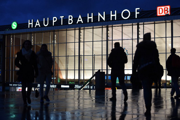 People walk past the Cologne main train station in Cologne, western Germany on January 13, 2016 where dozens of sexual assaults were perpetrated against women on New Year's Eve.  (Patrik Stollarz/AFP)