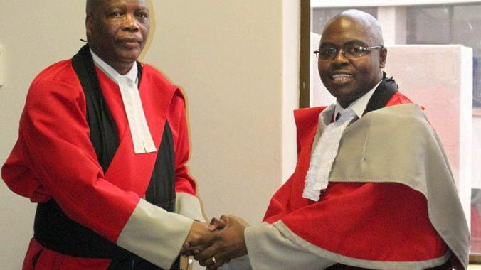 Chief Justice Michael Ramodibedi Judge Mpendulo Simelane. (The Nation)
