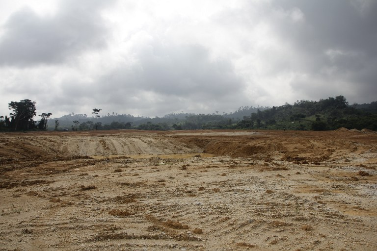 A small-scale mining site once mined by Chinese miners in Dunkwa-on-Offin in the centre of Ghana. (AFP)