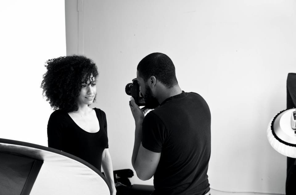 Nunez on a shoot. (Pic: TYP Photography Studio)