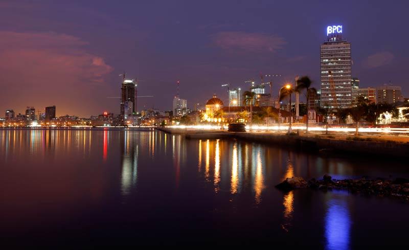 Luanda cityscape at dusk. (Reuters)