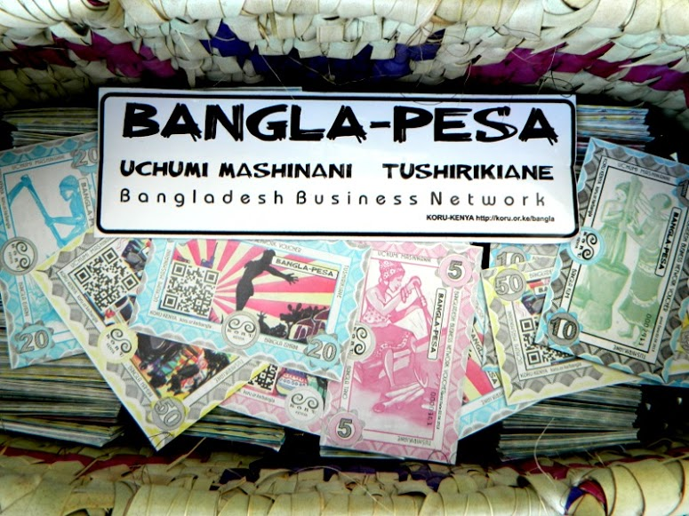 Bangla-Pesa is an informal currency, which can be exchanged for cash or services.