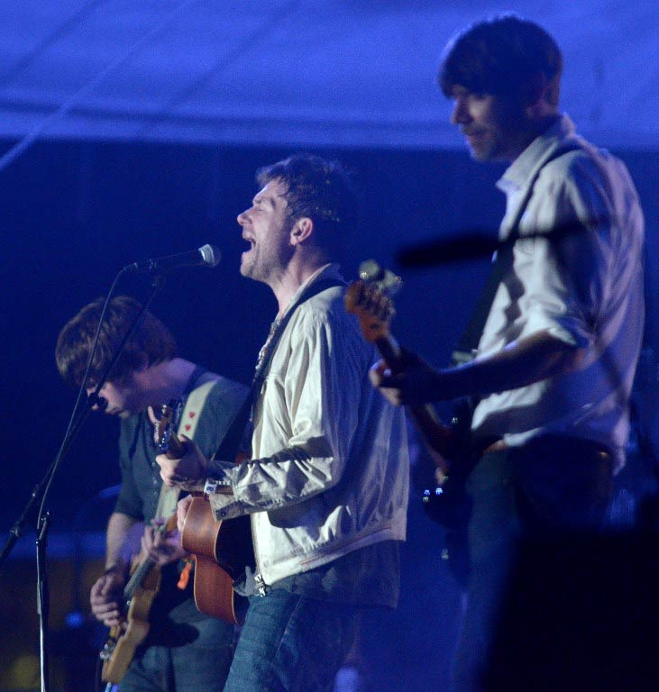 Damon Albarn of Blur performs at the 2013 Coachella Valley Music & Arts Festival in Indo, California. (Pic: AFP)