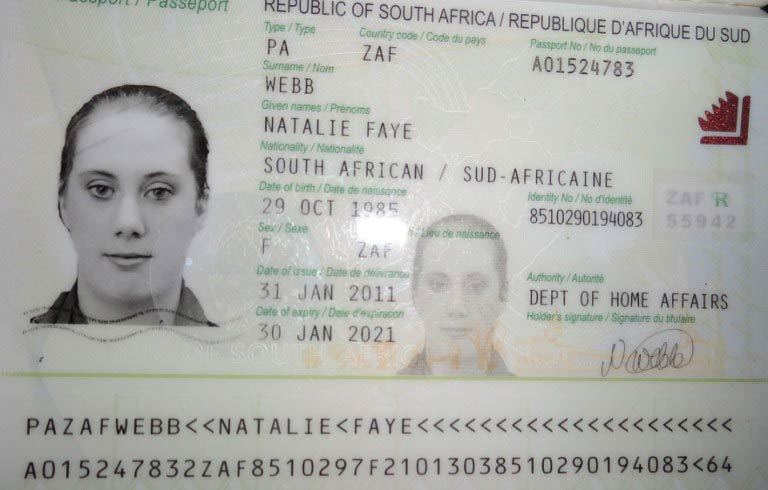 A photo of a fake South African passport of Samantha Lewthwaite released by Kenyan police in December 2011. (Pic: AFP/Kenyan police)