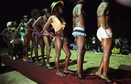 Contestants in the Miss Jacaranda pageant. (Pic: AP Exchange)