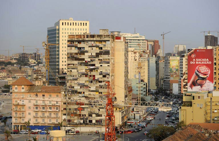 A view of Luanda's Central Business District taken on August 30 2012. (Pic: AFP)