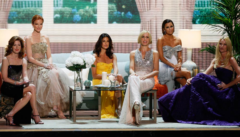 The cast of 'Desperate Housewives' take the stage at the 60th annual Primetime Emmy Awards in Los Angeles on September 21 2008. (Pic: Reuters)