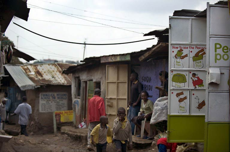 An illustration of the usage of Peepoo bags and toilets in Kibera. (Pic: AFP)
