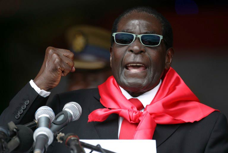 President Robert Mugabe talks during celebrations marking his 90th birthday in Marondera on February 23  2014. (Pic: AFP)