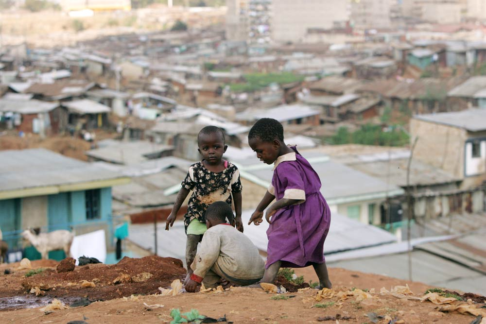 Children play at the sprawling Mathare slums, one of the largest and poorest in Africa, near Kenya's capital Nairobi. (Pic: Reuters)