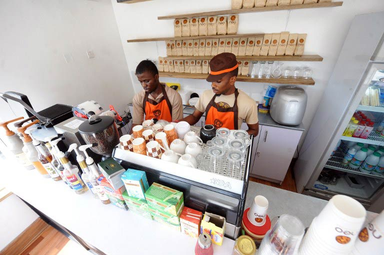 Cafe Neo in Lagos. (Pic: AFP)