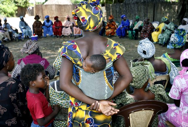 Women attend a meeting for eradicating female genital mutilation in the western Senegalese village of Diabougo. (Pic: Reuters)