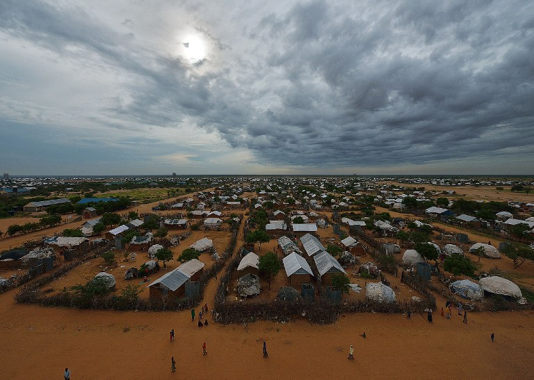An overview of part of the eastern sector of the IFO-2 camp in the sprawling Dadaab refugee camp, north of Nairobi. (Pic: AFP)