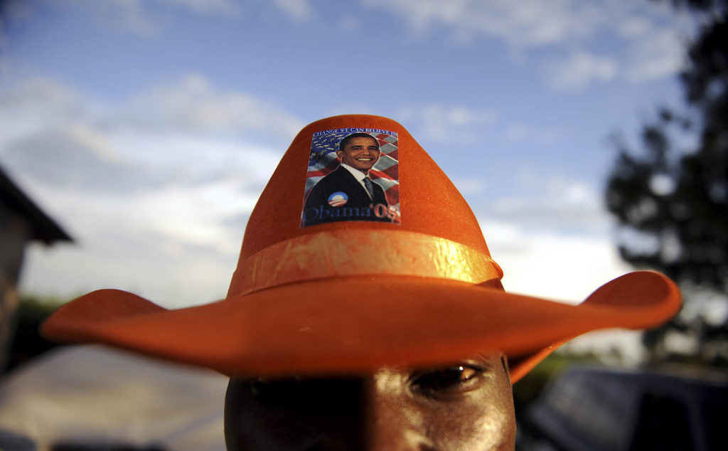 Some Kenyans are looking forward to the US president's visit. Pic: Tony Karumba/AFP