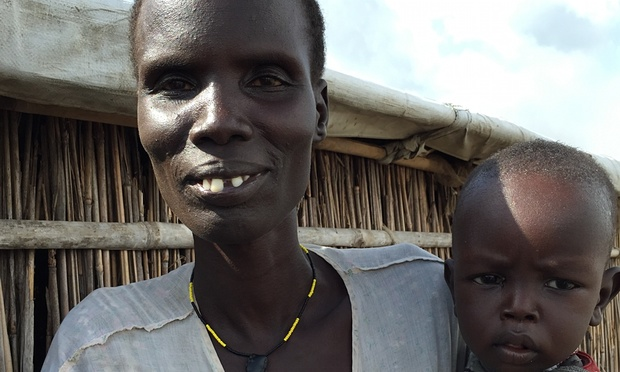 Nyaduop Machar Puot, who has lived for two months in the camp at Bentiu Photograph: Antony Loewenstein